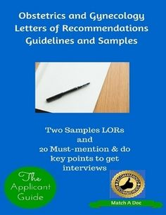 obstetrics and gynecology letters of recommendations guidelines and samples residency programs general surgery medical