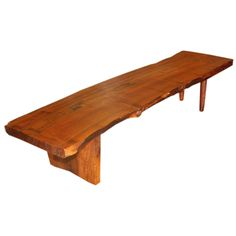 1stdibs | Coffee Table / Bench in the Best Nakashima Fashion