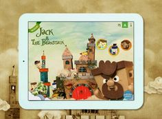 "A great app - Ipad appbook ""Behind Jack & the Beanstalk"" Handmade illustrations with expanded stories from the original classic~~ Jack And The Beanstalk, Best Apps, Ipad, Behance, The Originals, Gallery, My Style, Classic, Frame"
