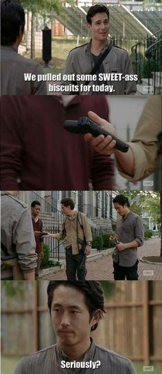 Bad ass Glenn! The Walking Dead season 5, episode 12.