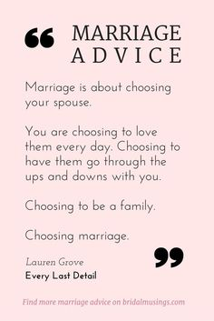 Quotes About Love – My Number One Piece of Marriage Advice Quotes About Love Description Marriage is a choice. Beautiful advice from Lauren Grove of Every Last Detail® Read more tips for a happy. Marriage Relationship, Marriage Tips, Love And Marriage, Quotes Marriage, Marriage Thoughts, Strong Marriage, Marriage Challenge, Relationship Marketing, Communication Relationship