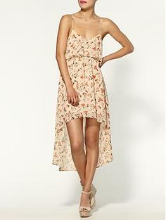 Lucca Couture Floral Hi-Lo Dress   Piperlime    Perfect to throw on after a day of sunning before heading out to dinner. Add espadrilles and you're set!
