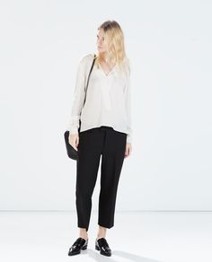 // KIMONO COLLAR SHIRT from Zara