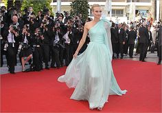 Hit: Diane Kruger The German actress made an ethereal entrance at the opening ceremony of Cannes. Her mint green Giambattista Valli Haute Couture gown at the screening of 'Moonrise Kingdom' on May 16