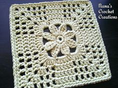 Nana's Summer Trellis Bloom Square Motif By Des Maunz - Free Crochet Pattern - (ravelry)