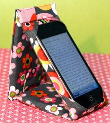iPod or iPhone Case Stand. Typical iPad covers or iPad screen covers won't make the cut after you see this iPod or iPhone Case Stand. Prop up your iPod or iPhone on this D.I.Y gadget cover. It's padded for protection and even snaps like wallet!