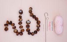 10 ting du kan bruge kastanjer til Acorn Necklace, Diy Necklace, Diy Projects For Kids, Easy Crafts For Kids, Conkers Craft, Buckeye Crafts, Memory Crafts, Nature Crafts, Bruges