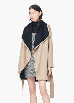Mango Waterfall Wool Blend Coat $169.99