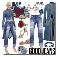 """Denim / Good Jeans / Alexander McQueen"" by emperormpf ❤ liked on Polyvore featuring Alexander McQueen, Platadepalo, Nails Inc., NARS Cosmetics and Stila"