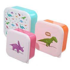 From 3.99:Dinosaur Lunch Boxes/lunch Boxkids Boys School/nursery Set Of 3)