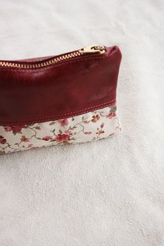 Romance  Handmade upcycled leather and fabric by TheDrifterLeather, $20.00