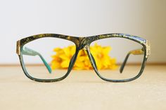 3593159ffa Vintage Christian Dior Eyeglasses 1980s Glasses New Old  Stock hipster retro disco frames Oversize Green Tone Frame Made In Germany  optyl