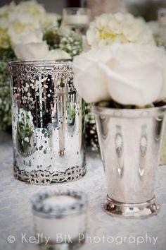Romantic Mirrored Vases