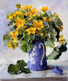 Kingcups - Limited Edition Print | Mill House Fine Art – Publishers of Anne Cotterill Flower Art
