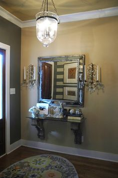 A different twist on an entry table, plus I    LOVE corbels!