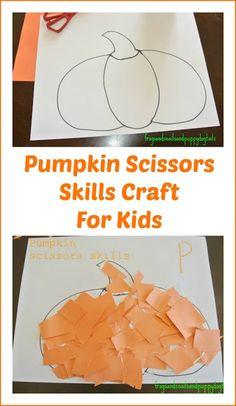 P is for Pumpkin( pumpkin poem, scissor skills, /work sheet) by FSPDT
