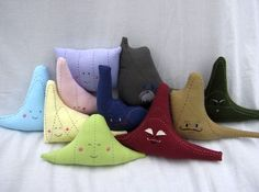 "Who said statistics is boring? These ""plushies"" represent statistical distribution models. Check them out, or  or you can make your own for a cool math/sewing project."