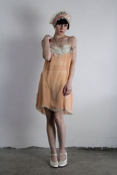ef397673fa1 Silk 1920s 1 Pc . Antique Boudoir Lingerie . Peach Bloomers . Flapper .  Embroidery . Plus Size Onesie . 1920s