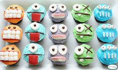 Monster party  monster cupcakes