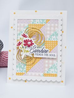 Project by Ashley Cannon Newell for Papertrey Ink (Quilted: Spring - May 2015) #PaperSuite #AshleyCannonNewell #PapertreyInk
