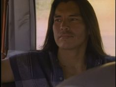 David Midthunder, Lakota actor, from the movie Red Blood AKA The Homecoming of Jimmy Whitecloud. The factory DVD is a low quality transfer from VHS and the image quality suffers immensely. David is still quite handsome though. :)