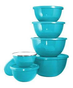 Look what I found on #zulily! Turquoise 12-Piece Bowl Set #zulilyfinds
