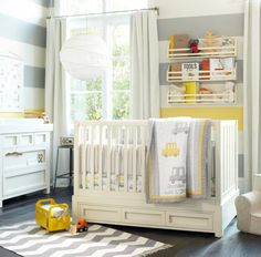 Grey, white and yellow are a colour trio you can always turn to when decorating your baby's nursery. The colours age well with your child, they're gender neutral and they're the perfect blend of soothing and fun.