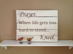 Rustic Wooden Pallet/Skid Prayer Sign by DunnRusticDesigns on Etsy, $50.00