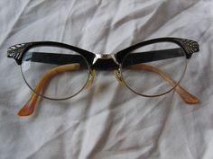 38e93d2c3206 Vintage Art Craft Retro Cat Eye Glasses 1950s Optical Eyeglasses in  Clothing