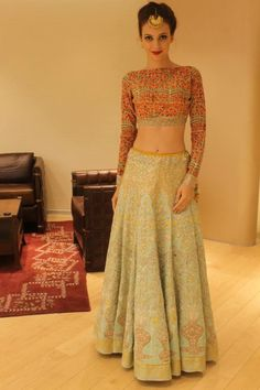 #indian #wedding #dress #women #fashion #style #blouse #lengha #gagra