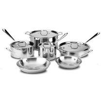 All Clad Stainless Steel 9-Piece Cookware Set