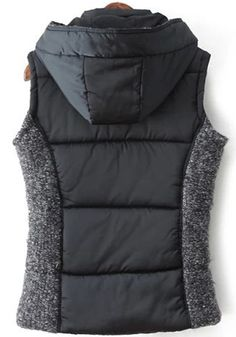 Awesome Vest Design! Love this Vest! Cozy Patchwork Hooded Outdoor Vest