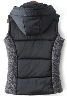 Awesome Vest Design! I Love Vests! Cozy Patchwork Hooded Outdoor Vest