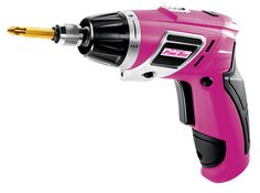Pink Cordless Screwdriver Set