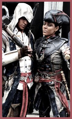 Connor and Aveline; Assassin´s Creed 3 cosplay--OMG This is amazing!!