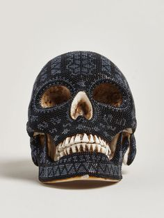 Huichol Black Skull by Our Exquisite Corps for LN-CC
