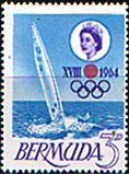 Bermuda 1964 Tokyo Olympic Games Fine Mint SG 183 Scott 195 Other Bermuda Stamps HERE