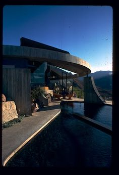 Elrod House by John Lautner  - located on the southern tip of Palm Springs CA