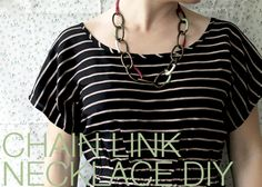 Chain Link Necklace DIY by Secondhand Sundays