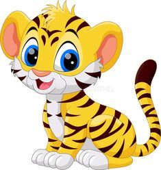 Find Cute Baby Tiger Cartoon stock images in HD and millions of other royalty-free stock photos, illustrations and vectors in the Shutterstock collection. Cartoon Cartoon, Tiger Cartoon Drawing, Cartoon Drawings, Animal Drawings, Cute Drawings, Baby Animals, Cute Animals, Cute Cartoon Animals, Cute Tigers