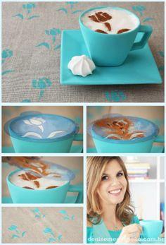 Boa idéia para decorar o café e receber amigos com charminho.