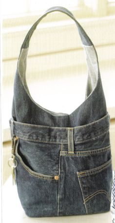 Recycled Denim Jeans Bag