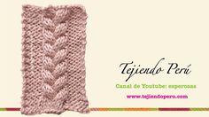 Dos agujas: trenza de 3 columnas Knitting Videos, Crochet Videos, Knitting Stitches, Baby Knitting, Crochet Cocoon, Chunky Crochet, Knit Crochet, Crochet Hats, Crochet Designs