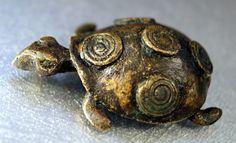 Antique Africa Ghana Akan Asante Ashanti Gold Weight Goldweight Turtle