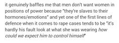 """"""" She was asking for it, wearing that skimpy outfit """"...Commonplace Sexist rhetoric.."""