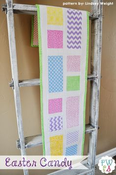 Fort Worth Fabric Studio: Easter Candy Table Runner {Free Pattern}