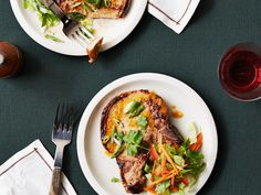 Asian Marinated Pork Chops Recipe : Melissa d'Arabian : Food Network - FoodNetwork.com