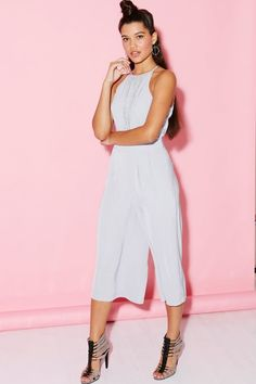 Girls on Film Powder Blue Halter Neck Jumpsuit - Girls On Film from Little…