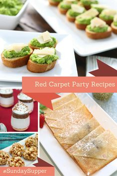Red Carpet Party Recipes, the best appetizers, main courses and deserts to serve that will dress up your party table! #SundaySupper