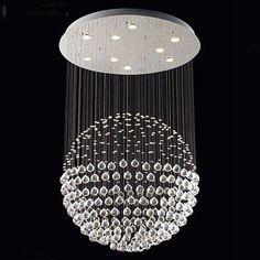 "Modern Chandelier ""Rain Drop"" Chandeliers Lighting With Crystal Ball H47""Xw33"" - G902-6844-9"